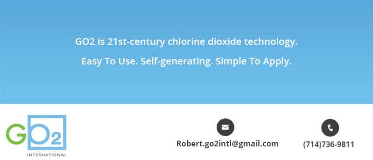 Go2 is 21st-century chlorine dioxide technology. East to Use. Self-generating. Simple to Apply.